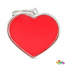 Chapa de identificação Big Heart Reflective Red