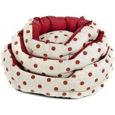 Cama Oval Pois Dogbed Red