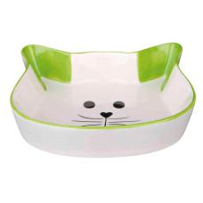 Comedouro em Cerâmica cara de Gato